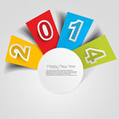 Stylish for happy new year text colorful design vector — Vetorial Stock