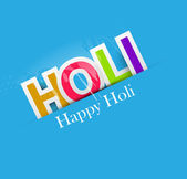 Stylish for colorful happy holi text design vector background — 图库矢量图片