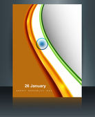 Beautiful background design for Indian republic day and independ — Vecteur