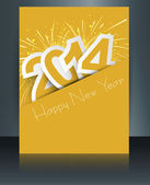 Celebration for new year 2014 colorful brochure template with st — Stock Vector