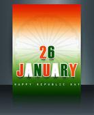 Schöne broschüre vorlage für stilvolle indische flagge tag der republik — Stockvektor