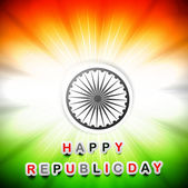 Indien flagge glücklich republik tag schöne design kunst vektor — Stockvektor