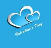 Beautiful Valentines Day colorful heart shape vector design illu — Διανυσματικό Αρχείο