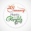 Beautiful 26 january calligraphy happy republic day text tricolo — Stock Vector
