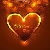 Aftelkalender voor Valentijnsdag kaart voor glanzende kleurrijke hart mooie Chtergro — Stockvector