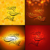 Beautiful card collections valentine's day with calligraphy text — Stock Vector