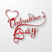 Valentine's day card with lettering text vector illustration — Vecteur