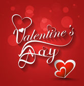 Valentine's day stylish text card for heart colorful background — Wektor stockowy