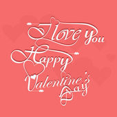 Beautiful elegant text design for Happy Valentine's Day letterin — Cтоковый вектор