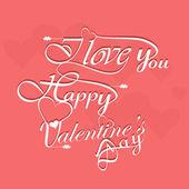 Beautiful elegant text design for Happy Valentine's Day letterin — 图库矢量图片