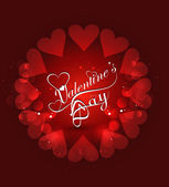 Beautiful hearts valentine's day card stylish text background ve — Stock Vector