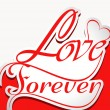Beautiful Love forever stylish text colorful vector — Stock Vector #38948367