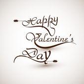 Happy valentine's day calligraphic font design illustration — Cтоковый вектор