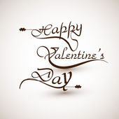 Happy valentine's day calligraphic font design illustration — 图库矢量图片