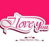 I Love You calligraphic headline and happy valentine's day color — Stock Vector