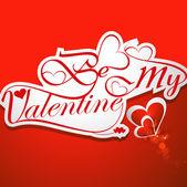 Calligraphic be my valentine headline with heart design vector — Stock Vector
