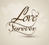 Love forever stylish Beautiful text design vector — Stock Vector