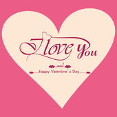 Beautiful background for valentine's day card vector design — Stock Vector