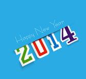 Krásný šťastný nový rok 2014 text návrhu vektorové pozadí — Stock vektor