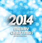 Happy new year 2014 for merry christmas beautiful vector backgro — Vetorial Stock