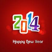 Hhappy nový rok 2014 barevné pozadí vektor — Stock vektor