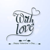Happy valentine's day with Love beautiful text card vector desi — Stock Vector