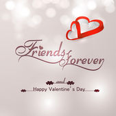 Beautiful friends forever for happy valentine's day heart stylis — Stock Vector