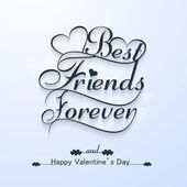 Beautiful best friends forever for happy valentine's day stylish — 图库矢量图片
