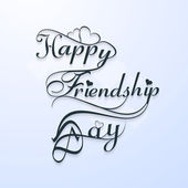 Beautiful happy friendsship day stylish text design vector — Stock Vector