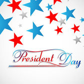 Beautiful stars Presidents day background colorful vector — Vector de stock
