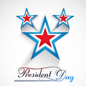 Presidents day American Independence Day stars in American Flag — Stock Vector