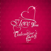 Beautiful I love You valentine's day text design background vect — Stock Vector