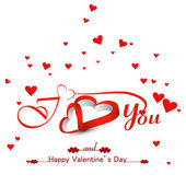 Beautiful hearts card for valentine's day background vector illu — Stock Vector