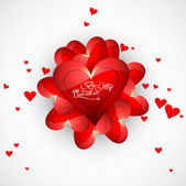 Valentines day greeting card or wedding invitation card colorful — 图库矢量图片