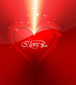Beautiful hearts colorful for valentine's day background illustr — ストックベクタ