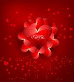 Dia dos namorados corações fundo colorido para cartão ou w — Vetor de Stock