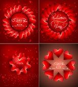 Mooie achtergrond voor happy valentine's day heart kleurrijke co — Stockvector