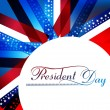Stock vektor: President Day in United States of Americwith colorful vector
