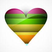 Piękny stylowy kolorowy serce-karta na tle walentynki — Wektor stockowy