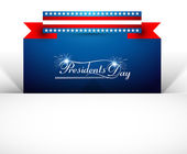 Vector background for United States of America in President Day — Stock Vector