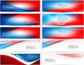 President Day in United States of America with colorful header s — Stock Vector