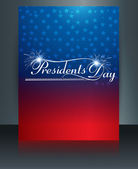 United States of America in President Day for beautiful reflecti — Stock Vector