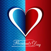 Beautiful President Day in United States of America with heart b — Stock Vector