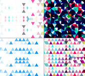 Seamless geometric colorful pattern set mosaic creative texture — Stock Vector