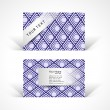 Vector abstract creative colorful business cards template design — Stock Vector