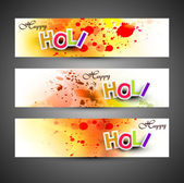 Beautiful banner and header set grunge with colorful colours spl — Stock Vector