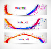 Beautiful banner and header set design with colorful colours spl — Stock Vector
