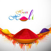 Holi festival colorful background with gulal card design vector  — 图库矢量图片