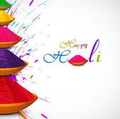 Beautiful card colorful holi gulal presentation celebration fest — Stok Vektör