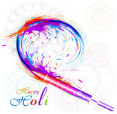 Beautiful holi pichkari colorful festival vector background illu — Wektor stockowy